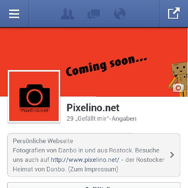 On #Facebook - Instagram auf Pixelino
